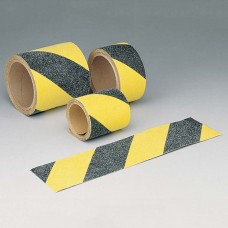 Anti-Skid Outdoor Tape, Black/Yellow, 25mm x 18m roll