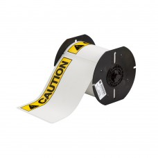 Outdoor CAUTION labels, white, 101mm x 152mm x 175 labels (B30-25-595-ANSICA)