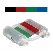 Black/Red/Green/Blue Ribbon, B30-R10000-KRGB-16, 400mm panels x 60m