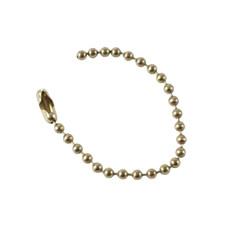 Beaded Chain, Brass, 114mm length x 100 pack