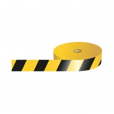Barricade Tape, Black and Yellow - 75mm x 500m roll