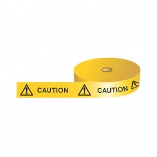 Barricade Tape, Caution with Symbol - 75mm x 250m roll