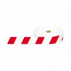 Barricade Tape, Red and White - 75mm x 500m roll