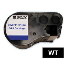 BMP41/51/53 B595 Outdoor 8Yr Vinyl, White/Black 13mm x 7.6m (MC-500-595-BK-WT)