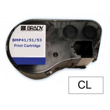 BMP41/51/53 B595 Outdoor 8Yr Vinyl, Black/Clear 13mm x 6.1m (MC-500-595-CL-BK)