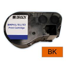 BMP41/51/53 B595 Outdoor 8Yr Vinyl, Black/Orange 13mm x 7.6m (MC-500-595-OR-BK)
