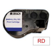 BMP41/51/53 B595 Outdoor 8Yr Vinyl, Red/White 13mm x 7.6m (MC-500-595-WT-RD)