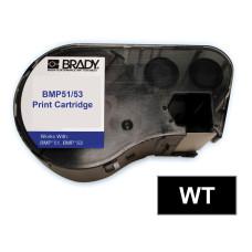 BMP51/53 B595 Outdoor 8Yr Vinyl, White/Black 38mm x 7.6m (MC-1500-595-BK-WT)