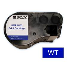 BMP51/53 B595 Outdoor 8Yr Vinyl, White/Blue 38mm x 7.6m (MC-1500-595-BL-WT)