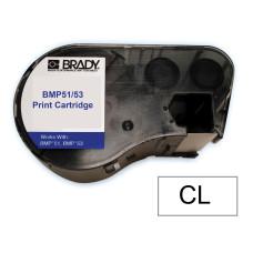 BMP51/53 B595 Outdoor 8Yr Vinyl, Black/Clear 38mm x 6.1m (MC-1500-595-CL-BK)