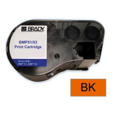 BMP51/53 B595 Outdoor 8Yr Vinyl, Black/Orange 38mm x 7.6m (MC-1500-595-OR-BK)
