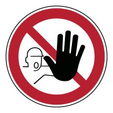 Floor Sign No Access, 350mm diameter (PIC209-D350-FLO)