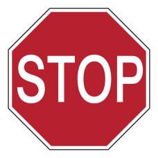 Floor Sign Stop, 350mm diameter (STFN230-D350-FLO)