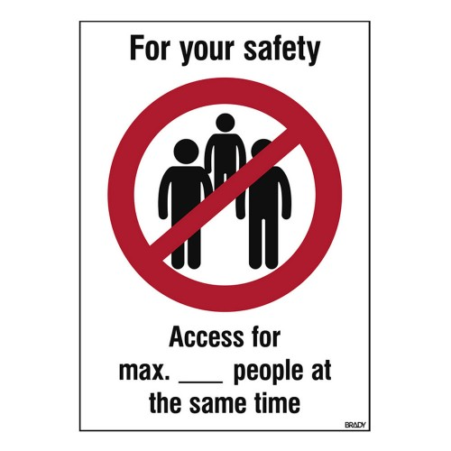Covid-19 Maximum Access Sign, 262mm x 371mm, Self-Adhesive Polyester (M/PIC921/EN549/PE-371X262-1)