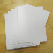 1mm Blank Rigid Foam Sign Boards - Pack of 30pcs sized 250mm x 342mm