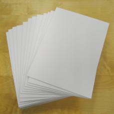 3mm Blank Rigid Foam Sign Boards - Pack of 30pcs sized 250mm x 342mm