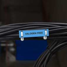 Halogen free cable tag, BLUE, 10 x 60mm (750 roll), BPT-6010-7643-BL