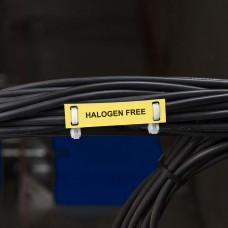 Halogen free cable tag, YELLOW, 10 x 60mm (750 roll), BPT-6010-7643-YL