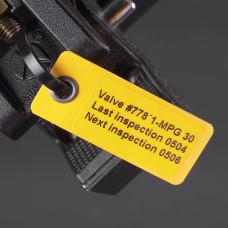 Laminat Blank Tags with Eyelet, YELLOW 59mm x 25mm x 50pcs (LT-59x25-B7645-WR)