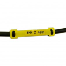 Laminat Cable Marking Blank Carriers, YELLOW 65mm x 13mm x 100pcs (LC-65x13-B7644)