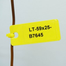 Laminat Blank Tags NO RIVET, YELLOW 59mm x 25mm x 50pcs (LT-59X25-B7645-0.05)