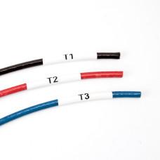 Nylon Cloth Labels <6mm wire diameter 12.7mm x 25.4mm x 3,000 labels (B33-611-499)