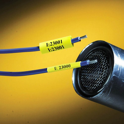 BMP41/51/53 Permasleeves Yellow 1.1-2.8mm wire diameter Continuous 2.1m x 6.0mm(h) (MC-125-342-YL)