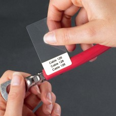 Self-Lam labels for 6-12mm wire diameter, 25mm(w) x 57mm(h) 1500 labels (B33-75-427)