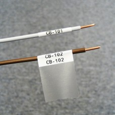 Self-lam White 2.7-5.1mm wire diam 12.7mm(W) x 25.4mm(H) x 500 labels (PTL-17-427)
