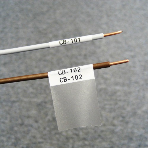 BMP41/51/53 Self-Lam White 3-5mm wire diameter 13mm(W) x 25mm(H) 480 labels (M-47-427)