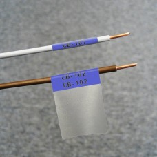 BMP61 Self-lam Blue 2.7-5.1mm wire diam 25.4mm(W) x 25.4mm(H) x 250 labels (PTL-19-427-BL)
