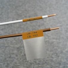 Self-lam Brown 2.7-5.1mm wire diam 25.4mm(W) x 25.4mm(H) x 250 labels (PTL-19-427-BR)