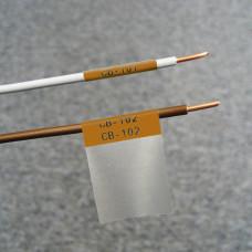 Self-lam Brown 2.7-5.1mm wire diam 25.4mm(W) x 25.4mm(H) x 250 labels (PTL-19-427-BR)