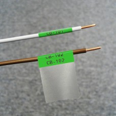 Self-lam Green 2.7-5.1mm wire diam 25.4mm(W) x 25.4mm(H) x 250 labels (PTL-19-427-GR)