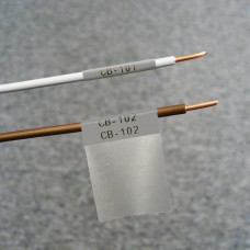 Self-lam Grey 2.7-5.1mm wire diam 25.4mm(W) x 25.4mm(H) x 250 labels (PTL-19-427-GY)