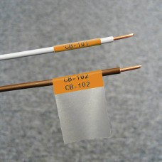Self-lam Orange 2.7-5.1mm wire diam 25.4mm(W) x 25.4mm(H) x 250 labels (PTL-19-427-OR)