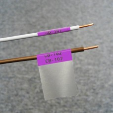 Self-lam Purple 2.7-5.1mm wire diam 25.4mm(W) x 25.4mm(H) x 250 labels (PTL-19-427-PL)