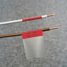 Self-lam Red 2.7-5.1mm wire diam 25.4mm(W) x 25.4mm(H) x 250 labels (PTL-19-427-RD)
