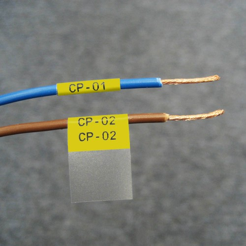 Self-lam Yellow 2.0-3.0mm wire diam 6.4mm(W) x 19.1mm(H) x 750 labels (PTL-10-427-YL)
