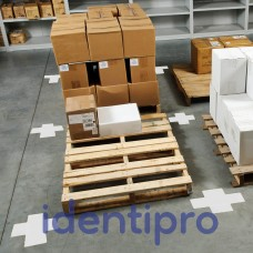 Toughstripe Floor Crosses 51mm x 127mm - White