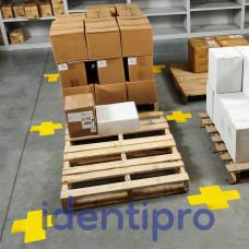 Toughstripe Floor Crosses 51mm x 127mm - Yellow